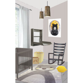Tapis rectangulaire enfant multicolore Otto Nattiot