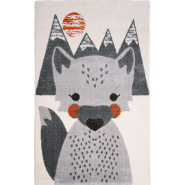 Tapis enfant multicolore à courtes mèches Mr Fox Nattiot