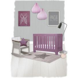 Tapis pour chambre de bébé rectangle gris Lucero Nattiot