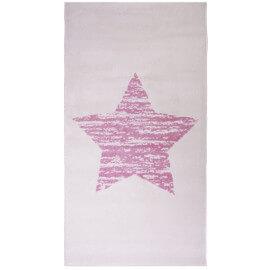 Tapis pour chambre de bébé rectangle rose Lucero Nattiot
