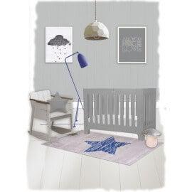 Tapis pour chambre de bébé rectangle bleu Lucero Nattiot
