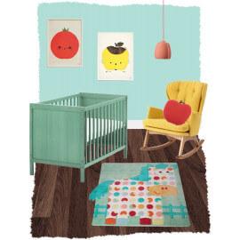 Tapis en acrylique pour enfant multicolore Hector Nattiot