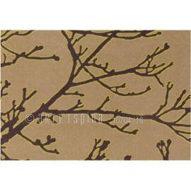 Tapis d'entrée contemporain marron Flora Arte Espina