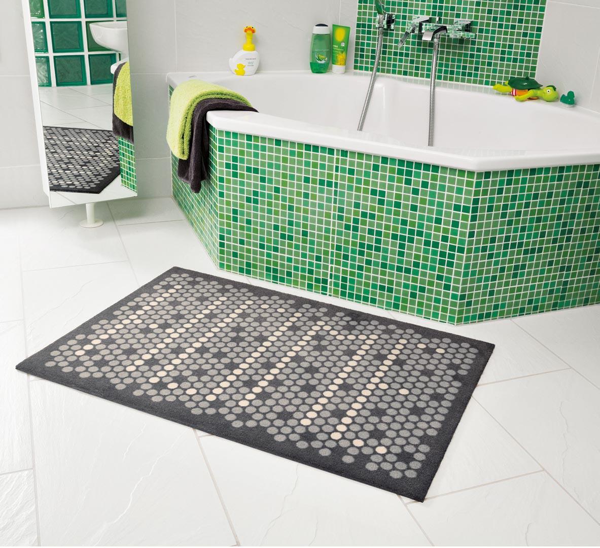 Tapis de salle de bain moderne gris geek arte espina - Tapis salle de bain gris ...