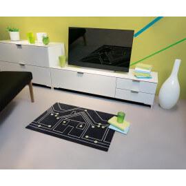 Tapis de propreté moderne noir Frame Arte Espina