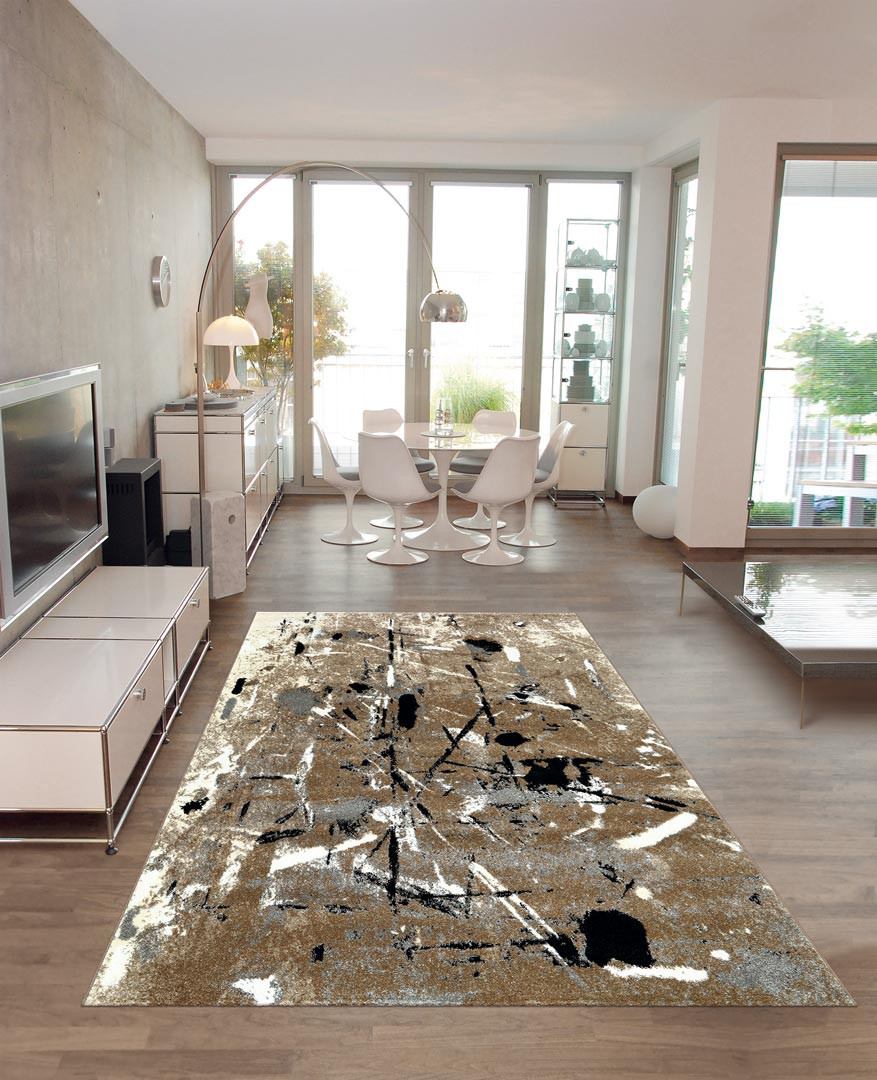 tapis de salon moderne beige slam arte espina. Black Bedroom Furniture Sets. Home Design Ideas
