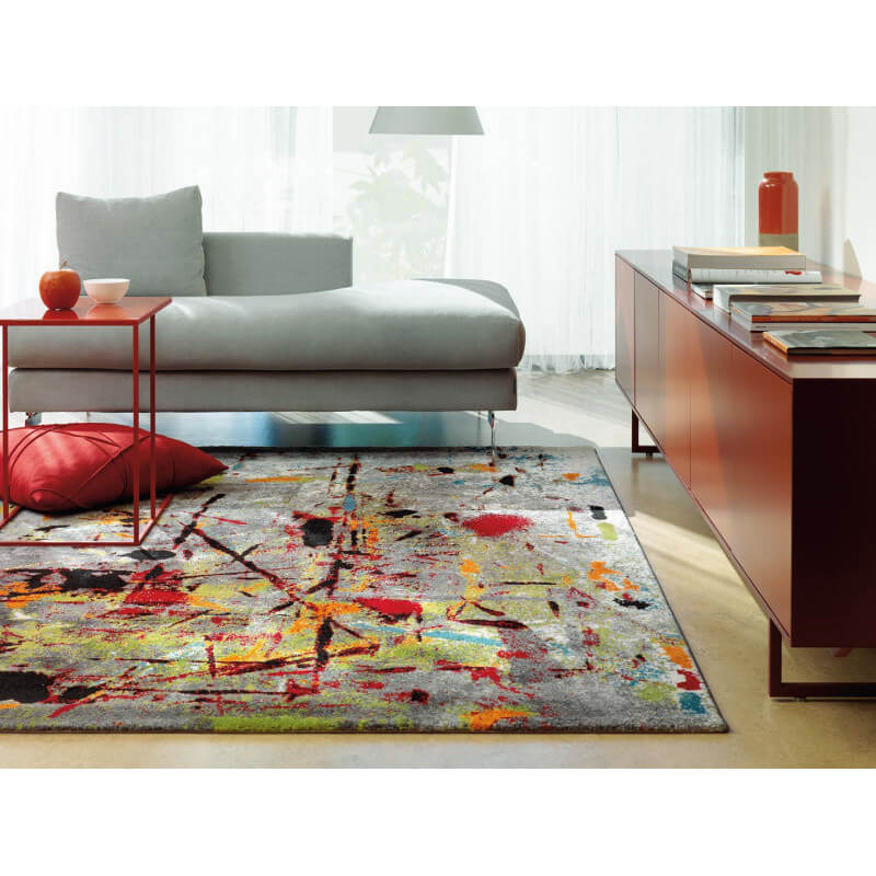 tapis de salon moderne multicolore slam arte espina. Black Bedroom Furniture Sets. Home Design Ideas