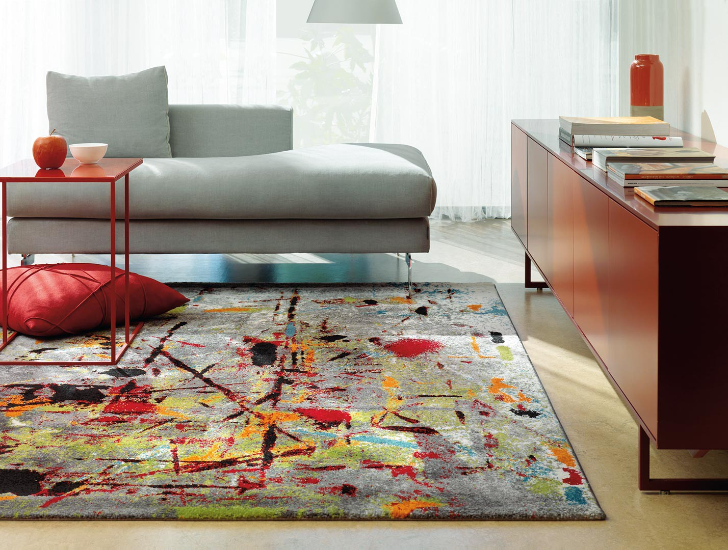 Tapis de salon moderne multicolore slam arte espina for Tapis salon but