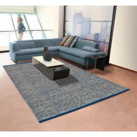 Tapis de salon plat style moderne bleu Halo Arte Espina
