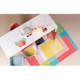 Tapis design multicolore en acrylique Splash Arte Espina
