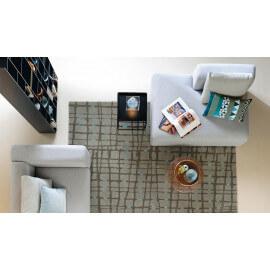 Tapis en laine gris pour salon Grid Arte Espina