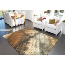 tapis marron moderne courtes mches zodiac arte espina - Tapis Marron