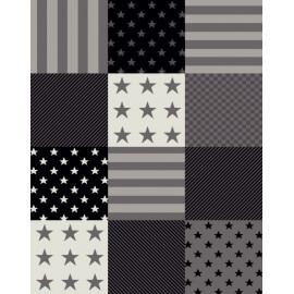Tapis patchwork pour enfant gris Zak