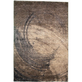 Tapis marron à courtes mèches contemporain Musca