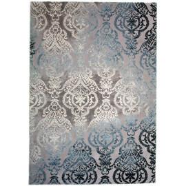 Tapis baroque bleu en polyester d'intérieur Nordic