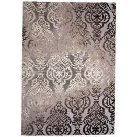 Tapis baroque gris en polyester d'intérieur Nordic