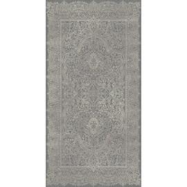 Tapis contemporain gris en polyester doux Pania