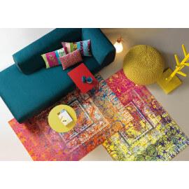 Tapis design jaune de salon Antigua Arte Espina