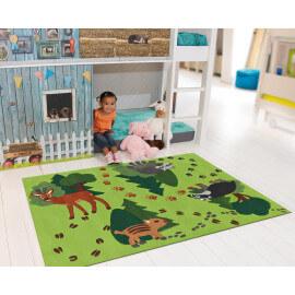 Tapis pour enfant vert Animals Kids Arte Espina