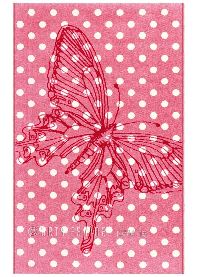 Tapis rose pour chambre de fille Mila Kids Arte Espina