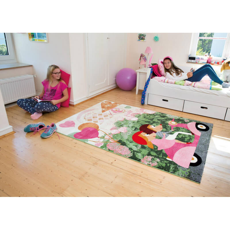 tapis pour chambre d 39 enfant multicolore souris kids arte. Black Bedroom Furniture Sets. Home Design Ideas