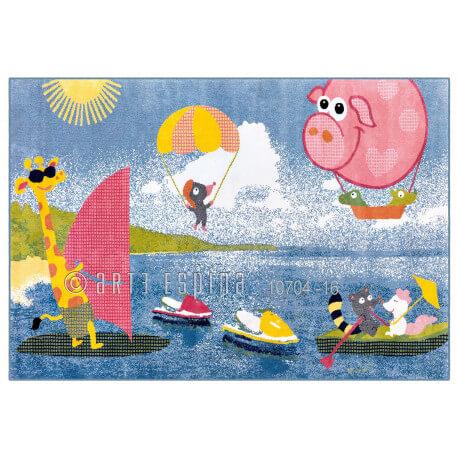 tapis multicolore pour enfant courtes m ches playa kids arte espina. Black Bedroom Furniture Sets. Home Design Ideas