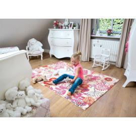Tapis floral pour chambre de fille rose Capucine Kids Arte Espina