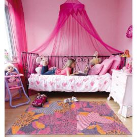Tapis rose pour fille style floral Parada Kids Arte Espina