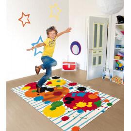 Tapis enfant en polypropylène multicolore Atelier Kids Arte Espina