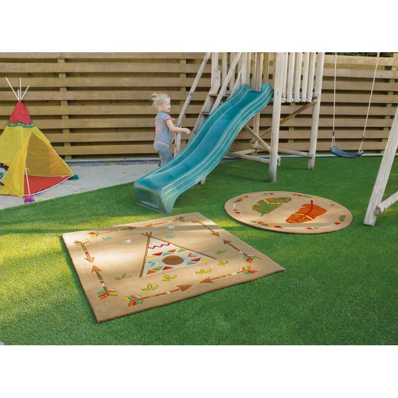 tapis carr fluorescent pour enfant glowy arte espina. Black Bedroom Furniture Sets. Home Design Ideas