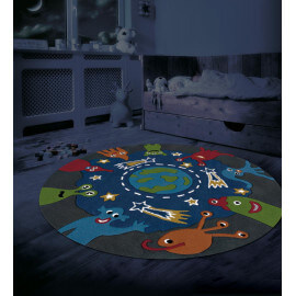 Tapis pour enfant rond fluorescent Glowy Arte Espina