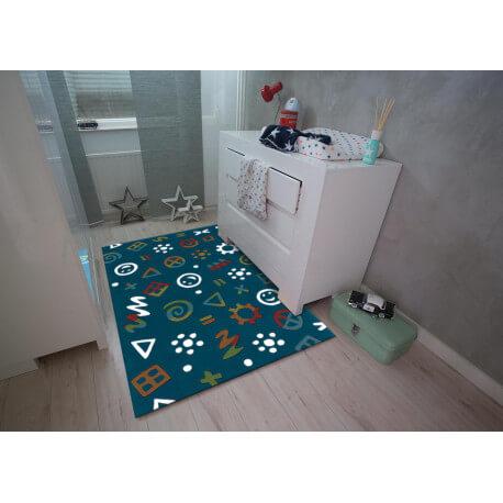 tapis fluorescent pour enfant bleu glowy arte espina. Black Bedroom Furniture Sets. Home Design Ideas