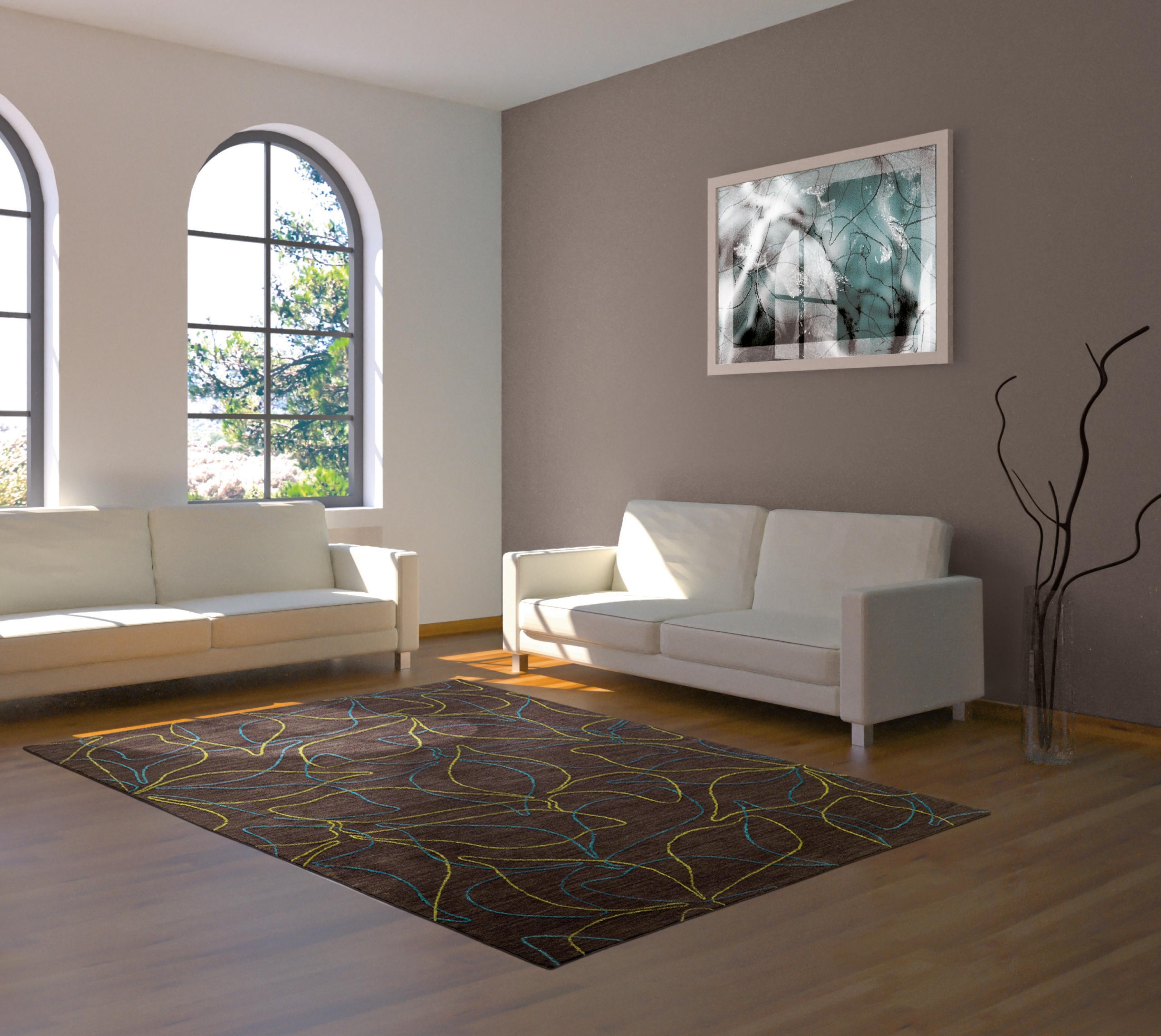 Tapis rectangle Floriade marron par Arte Espina