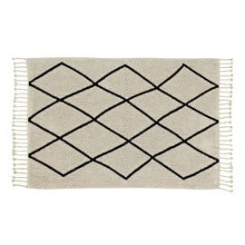 Tapis lavable en machine avec franges Bereber Lorena Canals