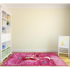 tapis pour chambre de fille rose courtes mches lisa - Tapis De Chambre Fille