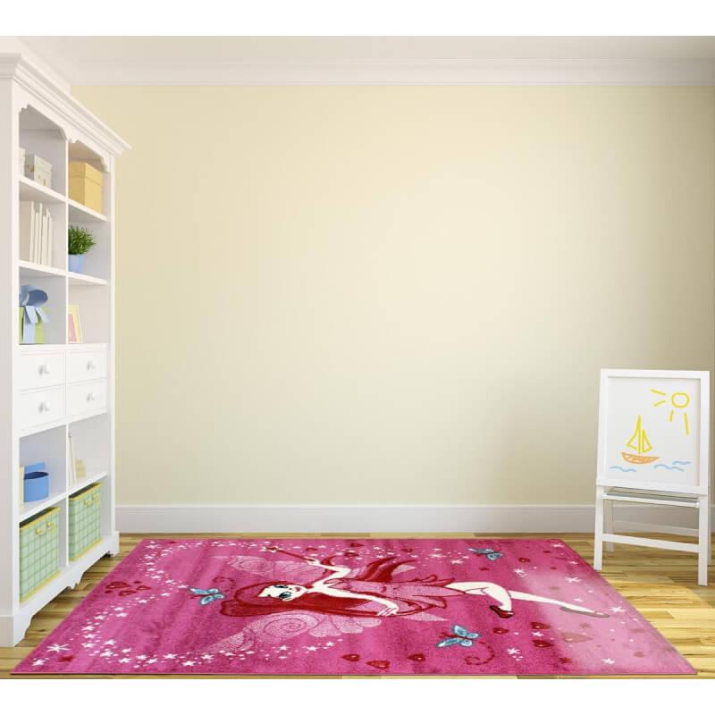 tapis pour chambre de fille rose courtes m ches lisa. Black Bedroom Furniture Sets. Home Design Ideas