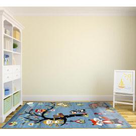 Tapis chambre enfant le tapis color pratique et ludique - Tapis enfant turquoise ...