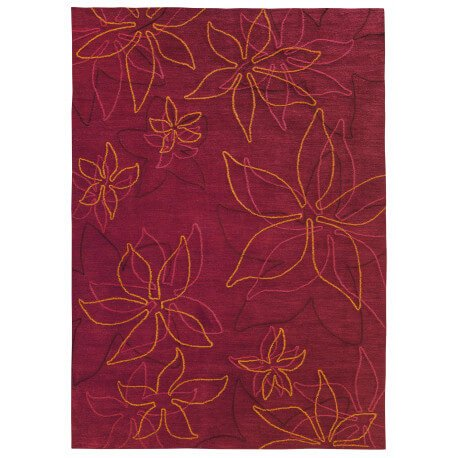 Tapis rectangle floriade rouge par Arte Espina