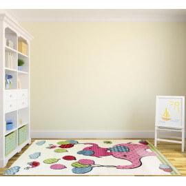 Tapis crème pour chambre de bébé coloré Isa