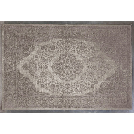 tapis en coton taupe oriental pour salon tozeur. Black Bedroom Furniture Sets. Home Design Ideas