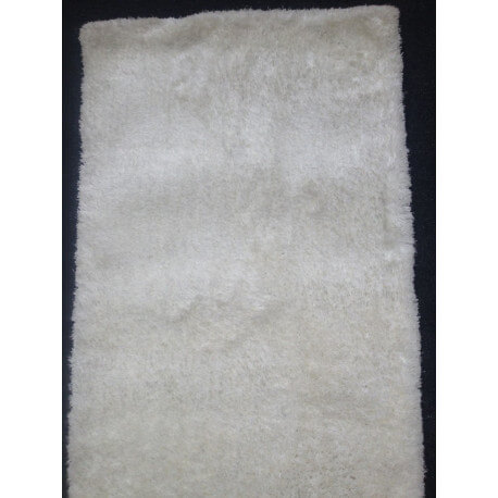 Tapis En Polyester Uni Doux Blanc Shaggy Rivoli