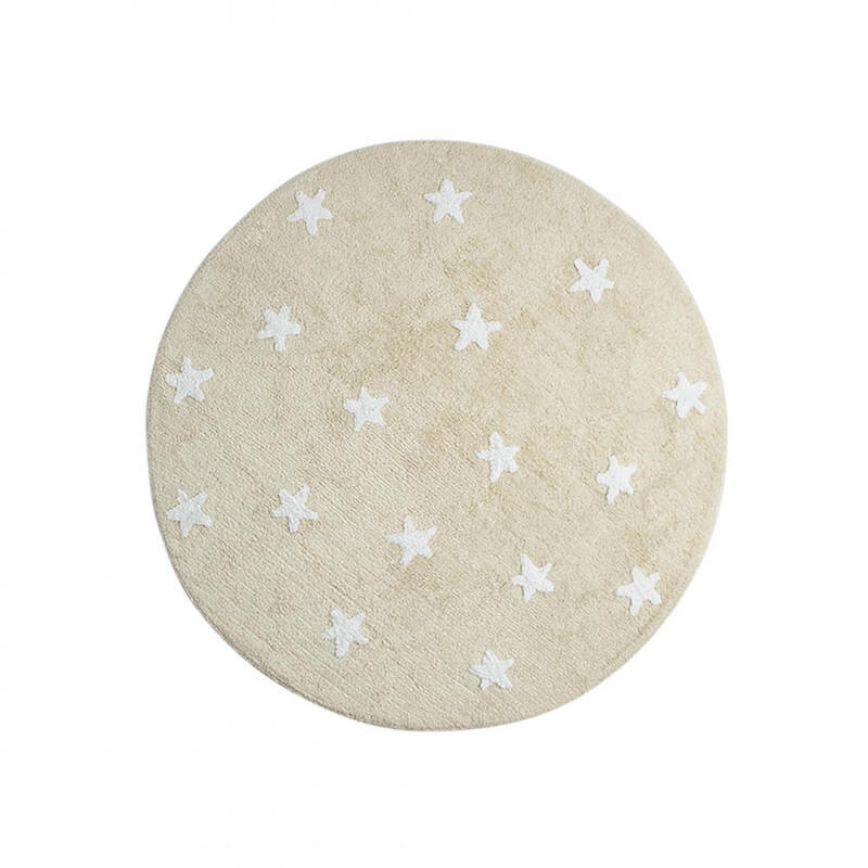 tapis rond pour enfant beige cielo lorena canals. Black Bedroom Furniture Sets. Home Design Ideas