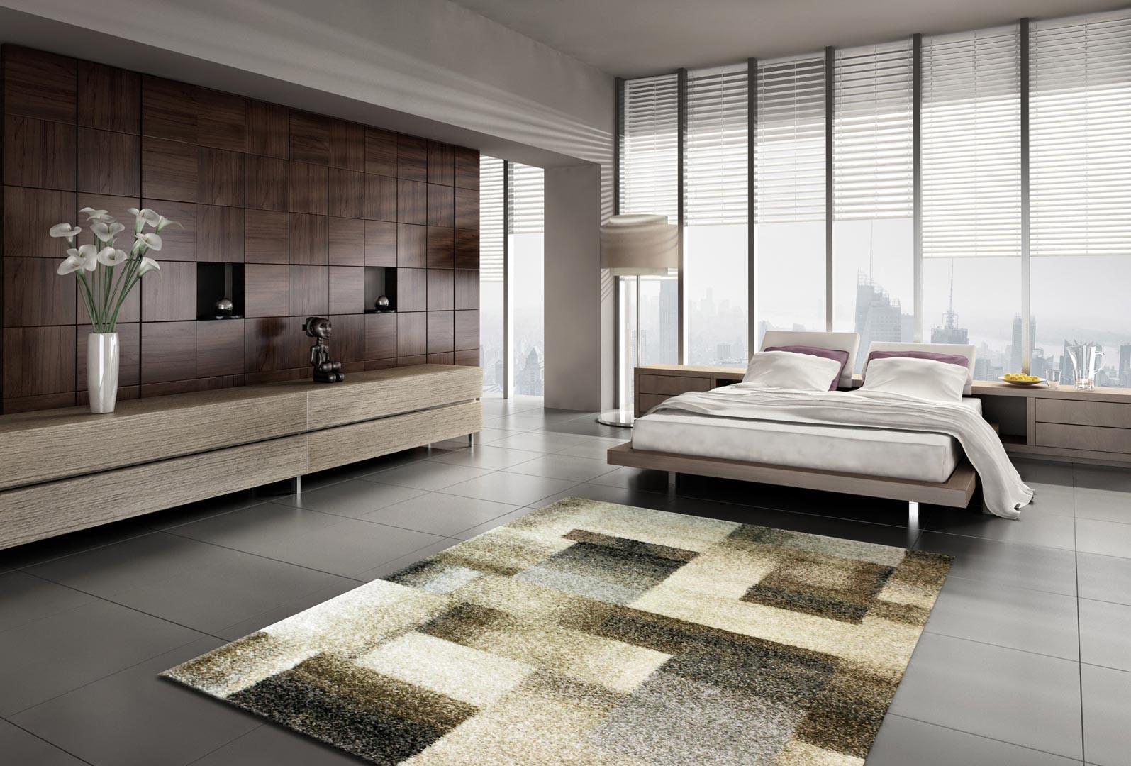 tapis g om trique beige pour salon zora. Black Bedroom Furniture Sets. Home Design Ideas