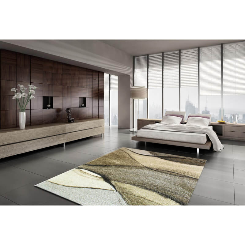 tapis gris vague pour chambre leila. Black Bedroom Furniture Sets. Home Design Ideas
