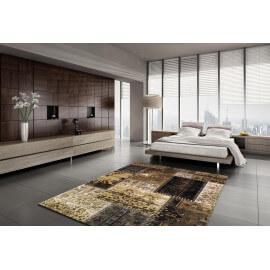 Tapis style patchwork beige pour intérieur Cactus