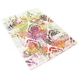 Tapis multicolore pour salon design Ringa