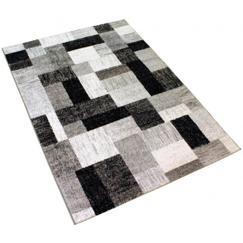 tapis g om trique design gris abysse. Black Bedroom Furniture Sets. Home Design Ideas
