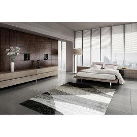 Tapis design gris en polypropylène pour salon Chama