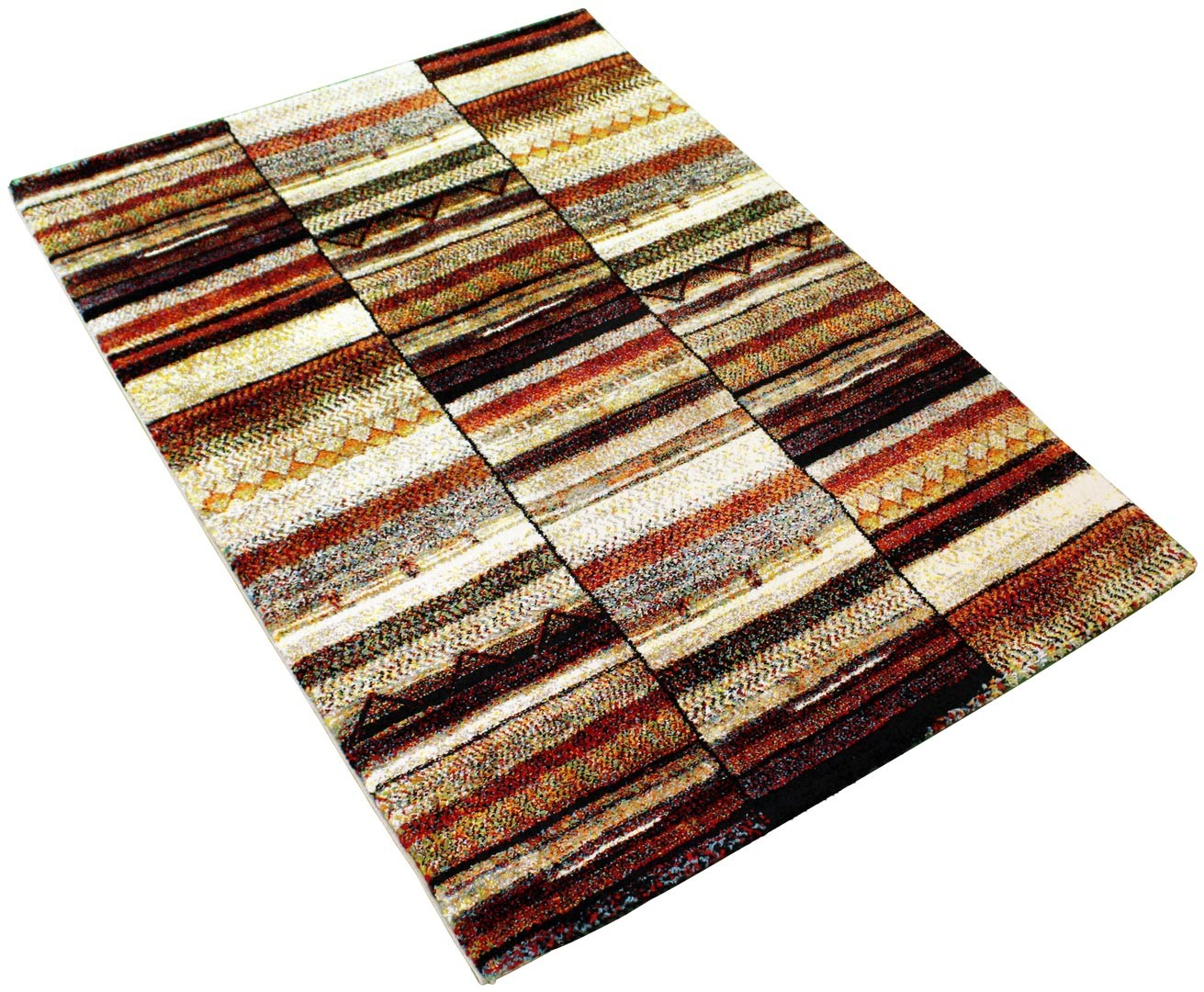 Tapis multicolore ethnique rectangle Feliz