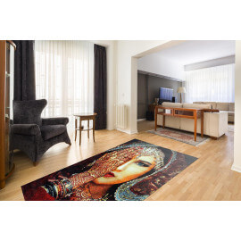 Tapis ethnique multicolore rectangulaire Portia
